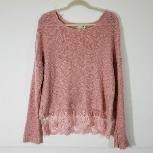 M L.A. Hearts Blush Pink Sweater